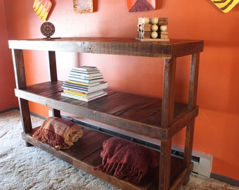 custom order couch table rustic reclaimed console table tall side table tall couch