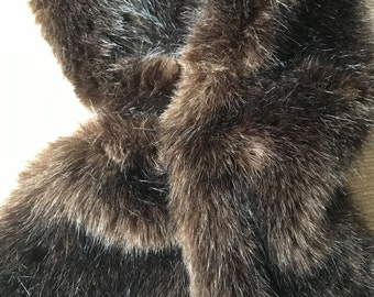 Moore and Moore Tippet Scarf. Faux Designer Fur Scarf.