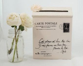 Vintage Wedding Mailbox, Wedding Card Holder, Wedding Card Box, Shabby Chic Wedding, Rustic Card Holder,