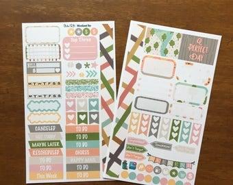 Woodland Day Spring MM Stickers Louis Vuitton Mambi Inkwell Press Filofax Kikki K Happy Life Planner LV pink outdoors