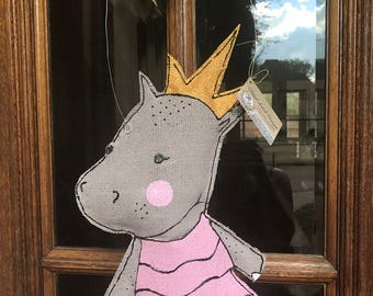 Land of Nod Royal Hippo Hanger - side view
