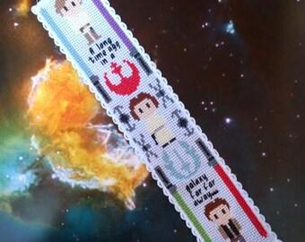 Star Wars Cross Stitch Bookmark Pattern - A New Hope Modern Embroidery Pattern - Luke Leia Han Cross Stitch