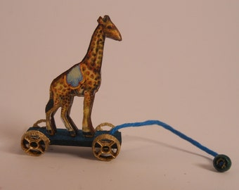 Miniature 1:12 Scale Giraffe Pull-Toy KIT