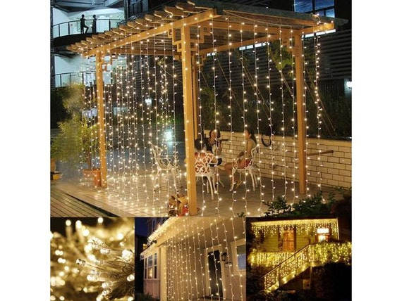 300 Led 9 Ft X 9 Ft Window Curtain Lights String Fairy Light