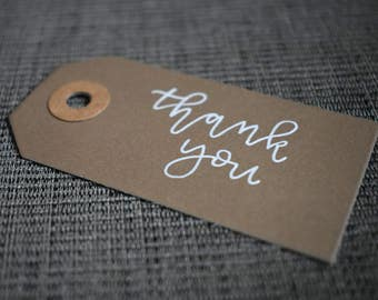 Typography Hand Lettering Kraft Customised Gift Tags by AV Typography