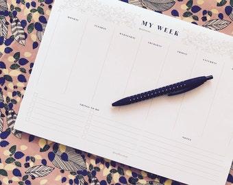 My Week – notepad