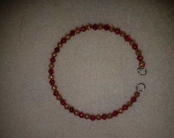 Crystal Red and Yellow Bracelet