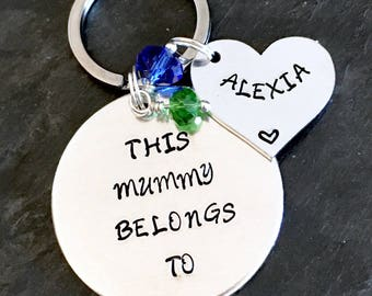 Mother's Day keyring, mummy keyring, Mother's Day, mothers day gift, mummy keyring, family key ring, personalised, gift for mum, mum keyring