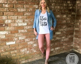Women's Graphic Tee - bless this mess