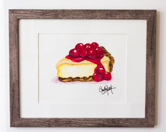 Cherry Cheesecake Watercolor