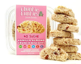 VANILLA ALMOND BISCOTTI with Stevia