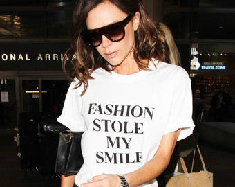 Fashion Stole My Smile ladies t-shirt