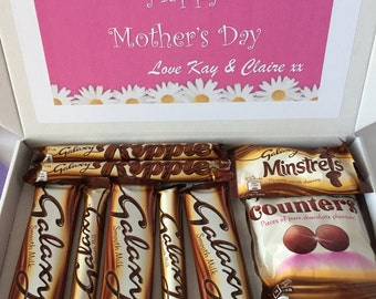 Personalised chocolate Galaxy gift box...Mothers Day, Birthday, Thank you