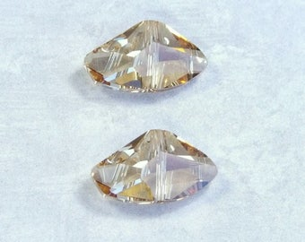 Swarovski Galactic Crystal 5556 Bead Golden Shadow Bead 11x19mm Bead Asymmetrical Bead