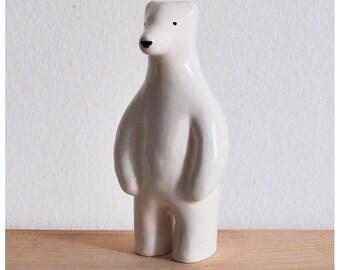 Eco Donation White Polar Bear Figurine