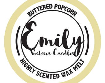 Buttered Popcorn Highly Scented Wax Melt Long Lasting Candle, Tart, Melt
