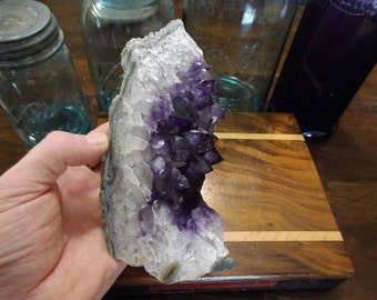 SALE!!! Amethyst Crystal Cluster from Uruguay | Amethyst Crystal Cut Base Display | Healing Crystal | Mineral Specimen #236
