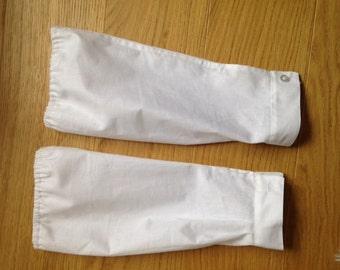 VAD Sleeve Protectors Handmade WWI WW1 historical costume dress up midwife butcher uniform