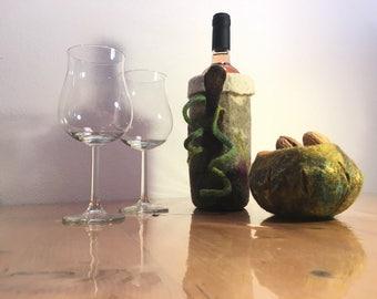 Wine racks save freshness handmade felted wool