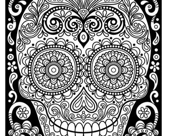 Iron-On Transfer - Thaneeya Sugar Skull