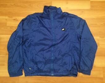 Medium 80's Nike track suit men's vintage blue nylon 1980's jogger jogging suit running runner