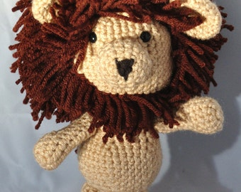 Lion stuffed animal, farm animal, amigurumi, Plush toy, baby shower gift, zoo animals