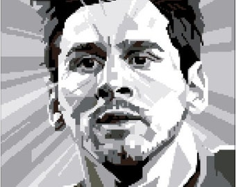 Lionel Messi portrait  cross stitch pattern