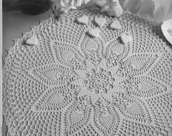 220. Vintage crochet  doily UK pattern in pdf