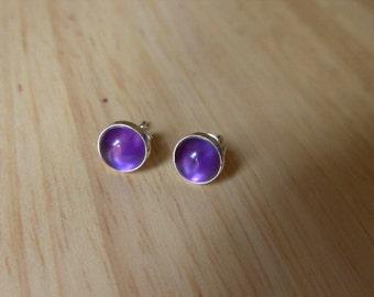 Stud Earings Amethyst Stud Earings Stone Earings