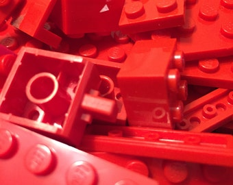 1000+ Red Lego Brick Pieces!!! Free Minifigure!!! Star Wars, Harry Potter, City, Castle, Space, Marvel, and Pirate Pieces! Birthday Craft Id