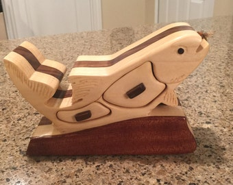 Trout Box made from poplar and walnut
