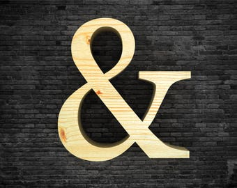 Wooden letters - &