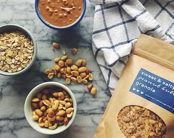 Sweet & Salty Peanut Butter Granola // Vegan + Gluten Free + Refined Sugar Free