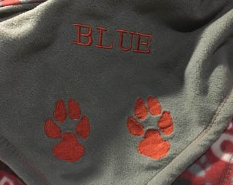 Fleece Pet Blankets- Personalized
