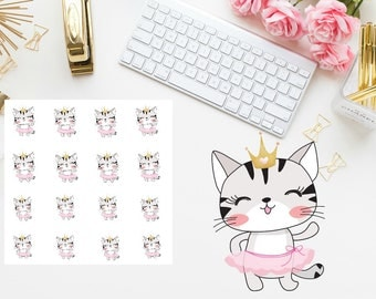 dancing cat Planner Stickers