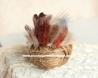 Feather Crown- Halo- Newborn Toddler Adult- Photography Prop-