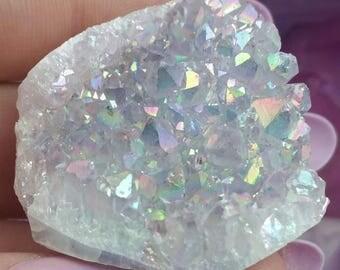 Angel Amethyst Aura Druzy Cluster Crystal