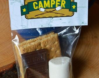 smores-camping party favor-camp party theme-camping gift-hiking party favor-teacher gift-happy trails-teacher appreciation-marshmallows