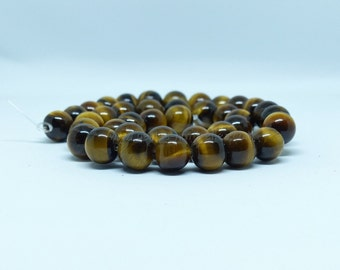 Tiger's eye - 10mm 10/50/100 - amount to choice - Grade A - round 10mm Tiger eye beads