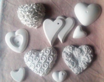 Scented colored chalks, place cards, hearts, wedding favors, wedding, wedding vows from euro 0.40