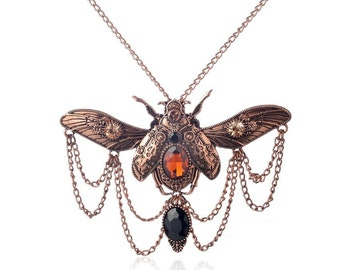 Steampunk Beetle Necklace