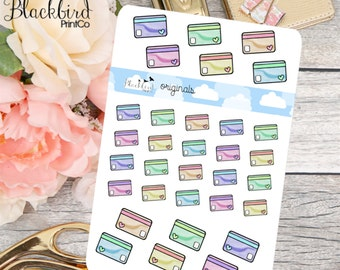 Credit Cards - Hand Drawn Planner Stickers [FR0009]