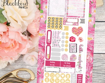 Floral Shimmer | Personal Planner Stickers