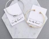Knot Bracelet Bridesmaid, Tie the Knot Bracelet, Gold Knot Bracelet, Silver Knot Bracelet, Tie the Knot, Bridesmaid Gift, Rose Gold Bracelet