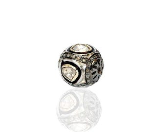 SDC-1446 Charm Silver -Pave Diamond Charm