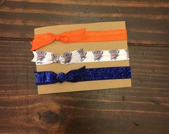 OKC Thunder|| Oklahoma City Basketball|| Elastic Headband Set|| baby headband|| Elastic Headband|| Elastic Bow Headband