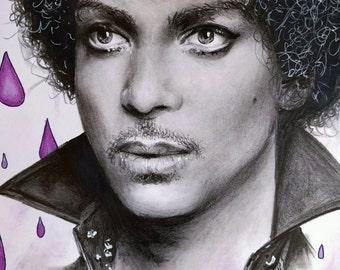 Portrait of Prince - Signed Prints