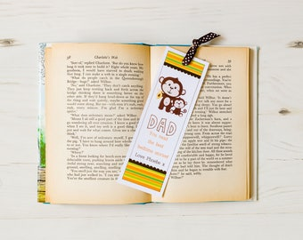 Father's Day Monkey Bookmark