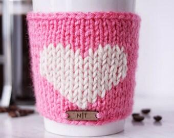 Heart mug cozy | cozy | mug cozy