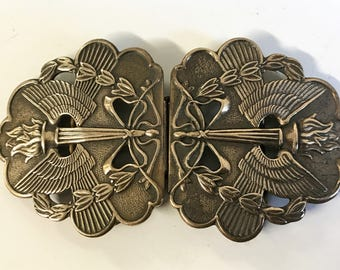 A Beautiful Vintage Art Nouveau  Brass Belt Buckle